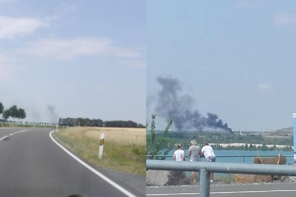 Am Sonntagvormittag brannte es auf dem Gelände der Zentraldeponie in Großpösna südlich von Leipzig.