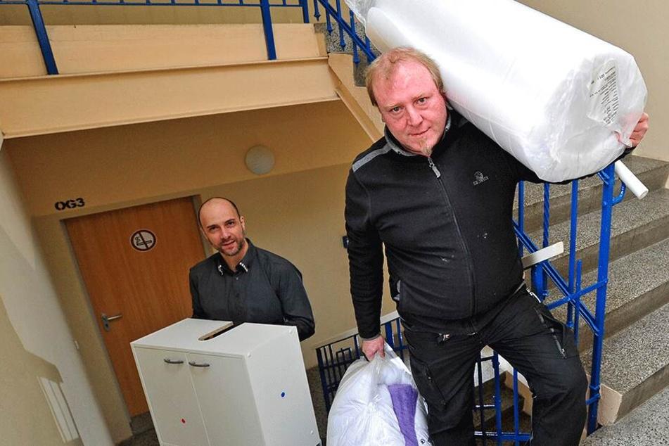 Chemnitz: 24 Zimmer werden für Obdachlose neu eingerichtet: 50 starke Helfer gesucht!