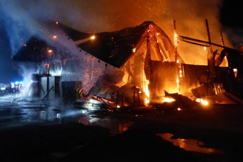 Tischlerei abgebrannt: Flammen zerstören komplettes Gebäude!