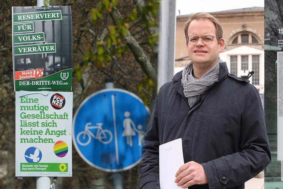 "Widerstand gegen rechte ""Volksverräter""-Plakate"