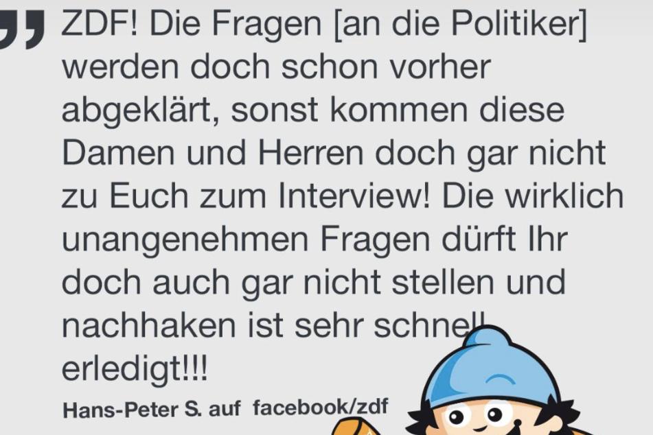 Das ZDF muss sich regelmäßig mit Kritik auseinandersetzen.