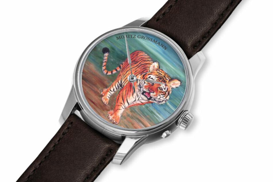 2022 ist das Chinesische Jahr des Tigers - Jaroslava Werstler entwarf das Zifferblatt-Motiv.