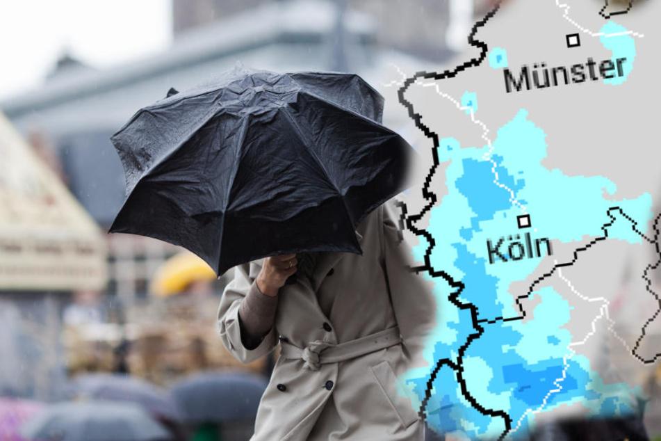 In den nächsten Tagen gibt es viel Regen und wenig Sonne in NRW. (Symbolbild)