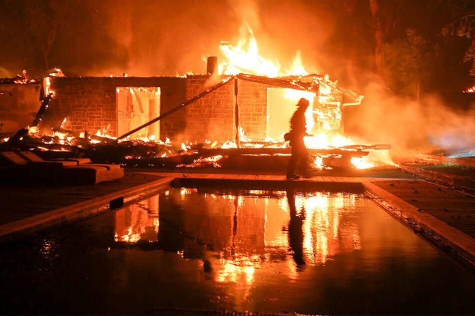 Die schweren Waldbrände in Kalifornien haben zu stellenweise katastrophaler Zerstörung geführt.
