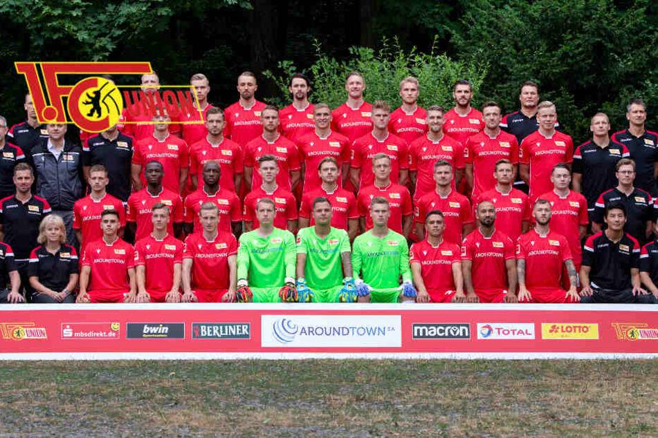 Fototermin 1. FC Union Berlin für die Saison 2019/20: Union-Coach Fischer kam mit einem 32- Mann-Kader ins Trainingslager.