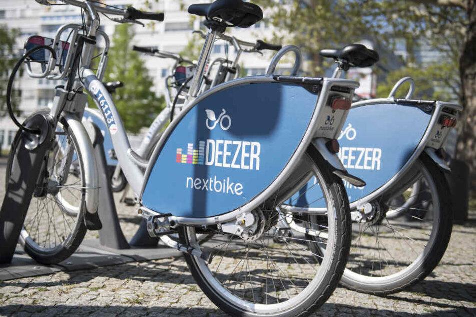 nextbikes mit Deezer-Branding waren lange in Berlin zu sehen.