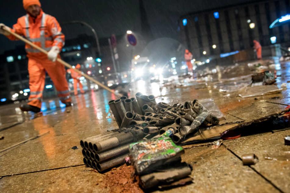 Die Stadtreinigung sorgte ab 2.30 Uhr für saubere Straßen und Gehwege in Hamburg.