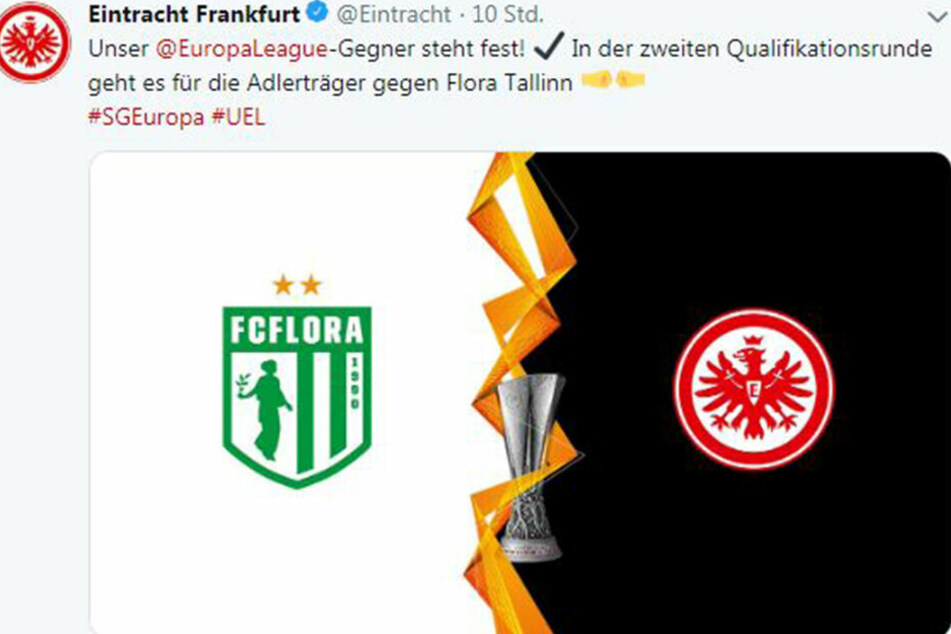 Die Eintracht freut sich via Twitter schon auf das erste Pflichtspiel der neuen Saison.