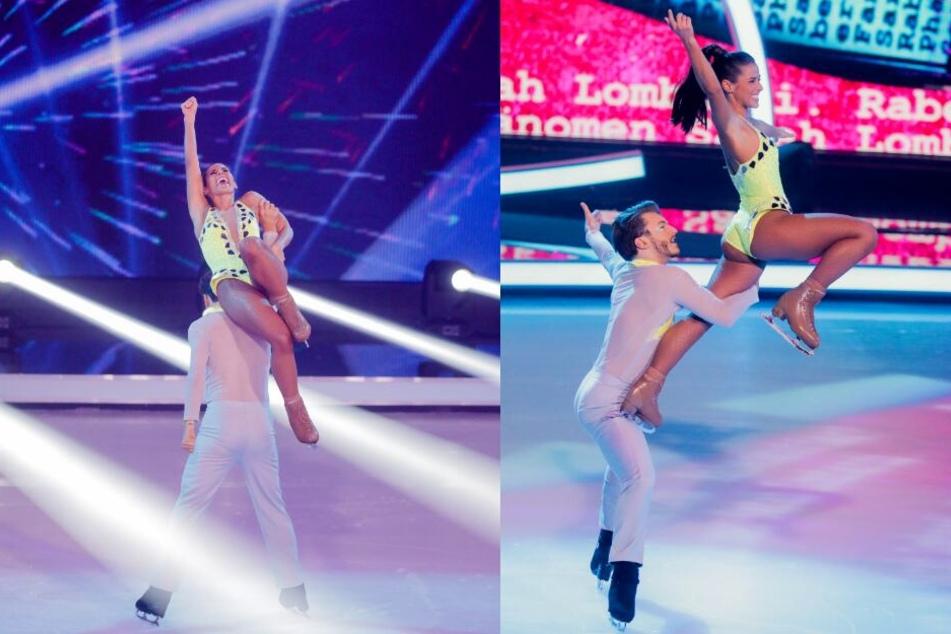 "Sarah Lombardi und Joti Polzoakis überzeugten erneut bei ""Dancing on Ice""."