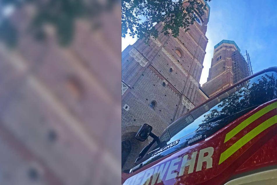 Die Feuerwehr München probt am Donnerstagmorgen den Ernstfall.