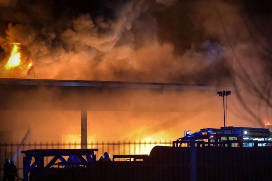 Die komplette Produktionshalle brannte nieder.