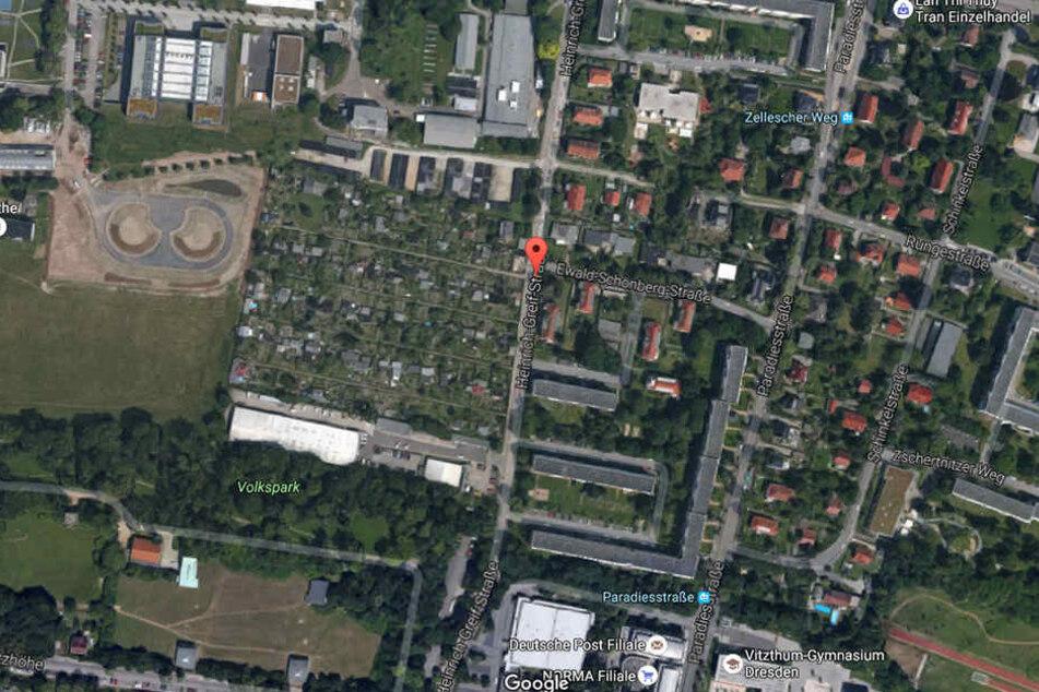 Im Dresdner Stadtteil Räcknitz wurde bei Bauarbeiten eine Fliegerbombe entdeckt.