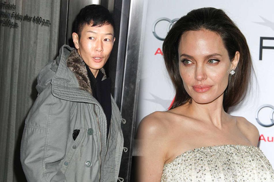 Angelina Jolie (r.) würde wohl gern wieder mit ihrer Ex anbandeln.