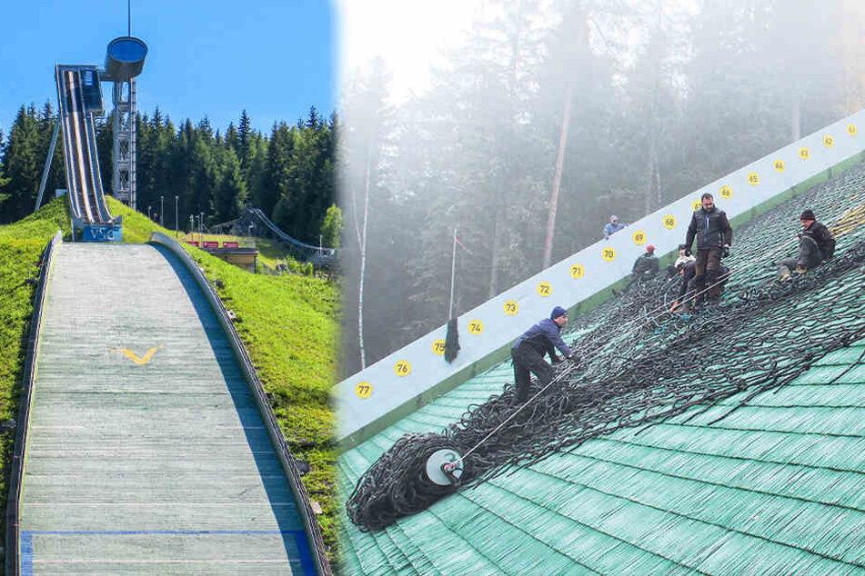 Der Schnee kann kommen: Vorbereitungen auf Skisprung-Weltcup im Vogtland laufen