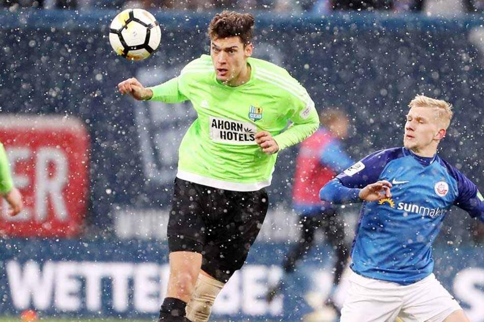 Myroslav Slavov im Spiel gegen Hansa Rostock. Auch dort traf er, der CFC verlor aber dennoch 1:3.