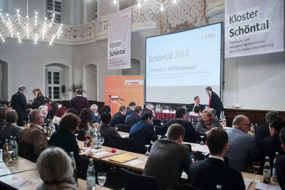 Januar 2018: Die CDU bei ihrer Klausur im Kloster Schöntal.