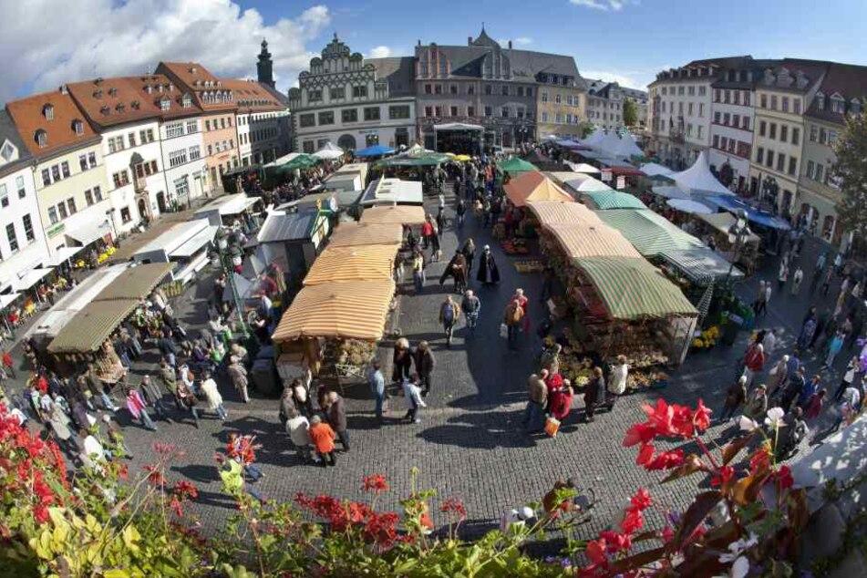 Der Zwiebelmarkt in Weimar findet in diesem Jahr vom 13. bis 15. Oktober statt. (Archivbild)