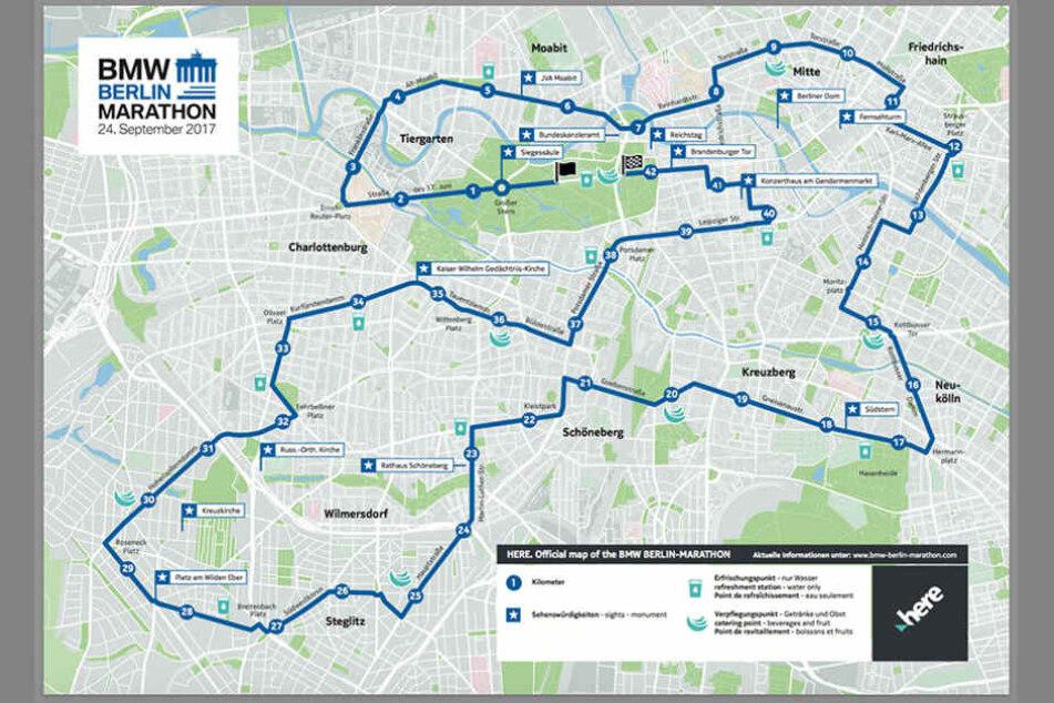 Viele Straßen in Berlin sind aufgrund des Marathons gesperrt.