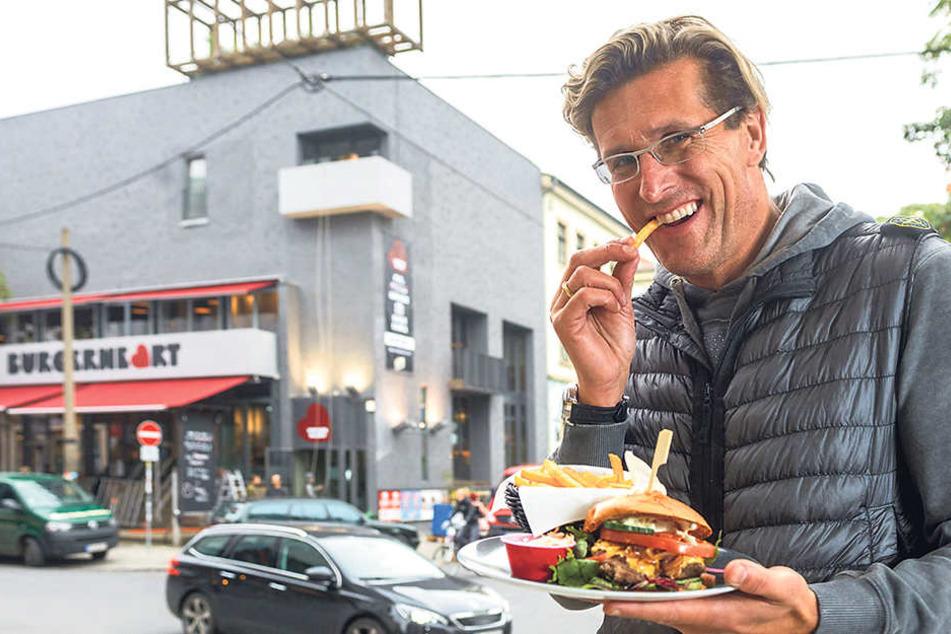 """Christian von Canal (49) eröffnete  im Oktober das Restaurant """"Burgerheart"""" - kein halbes Jahr später gibt er es  wieder ab."""