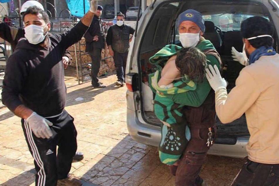 Immer wieder sollen in Syrien Chemiewaffen eingesetzt werden.