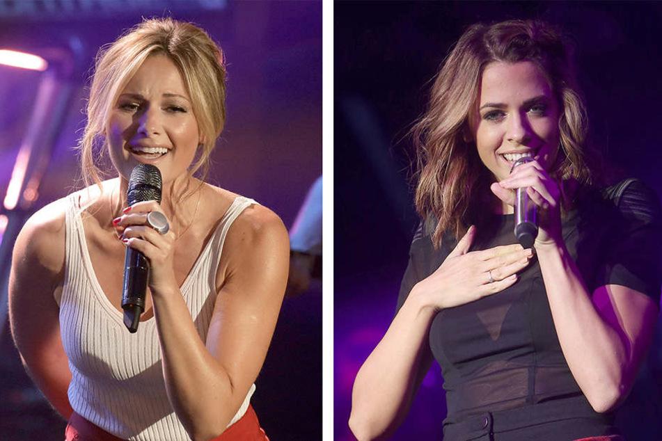 Helene Fischer (li.) geht am ersten Weihnachtstag mit ihrer Show 180 Minuten lang auf Sendung. Unter anderem wird sie gemeinsam mit Kollegen wie Vanessa Mai singen.