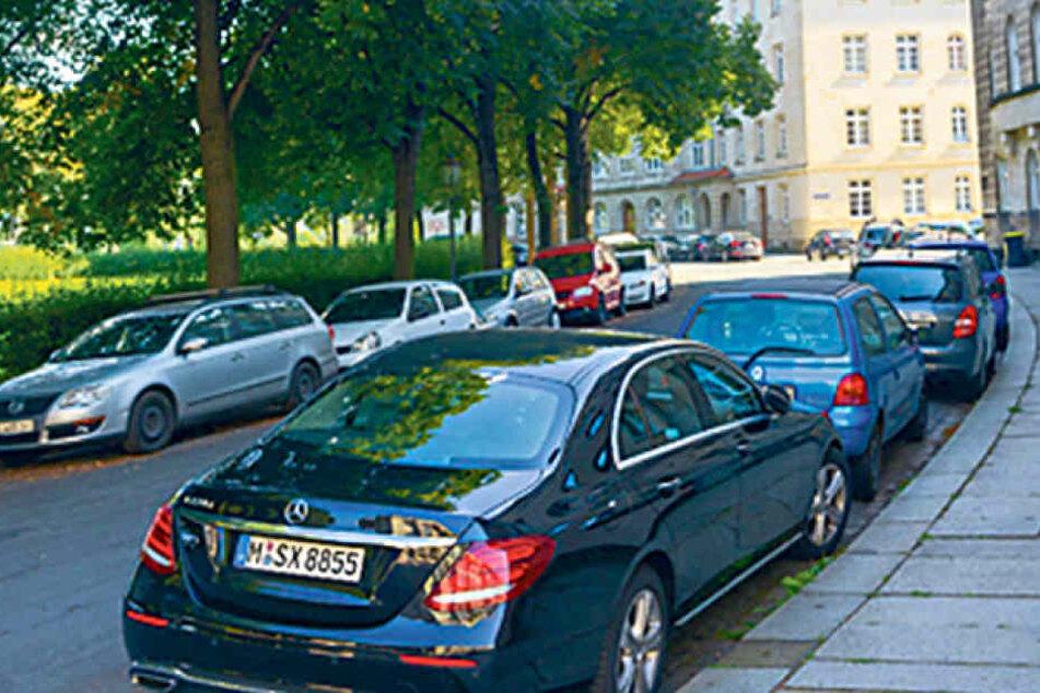 Am Thomas-Müntzer-Platz nahe des Fährgartens sollte es längst Parkuhren  und Bewohnerparkplätze geben.