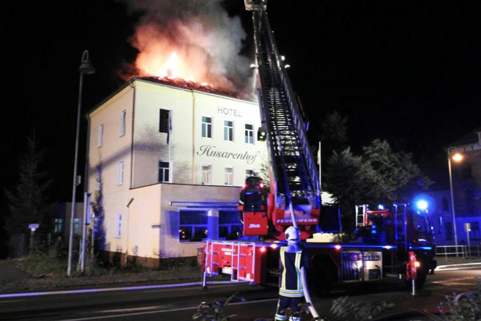 Am Dienstagabend kam es zu einem Brand im Husarenhof.