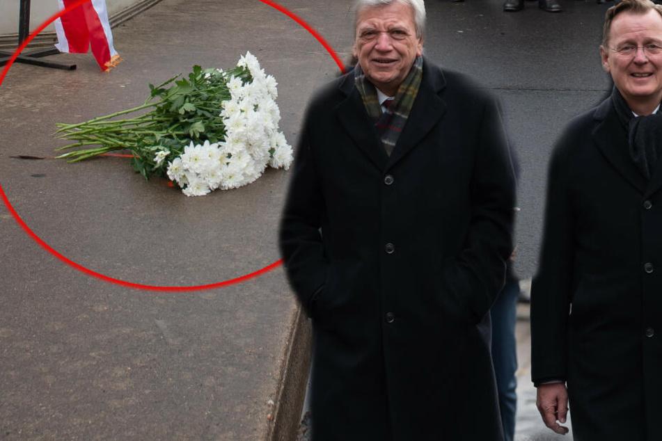 Bei Mauerfall-Gedenken: Dieser Blumenstrauß rettet den Festakt