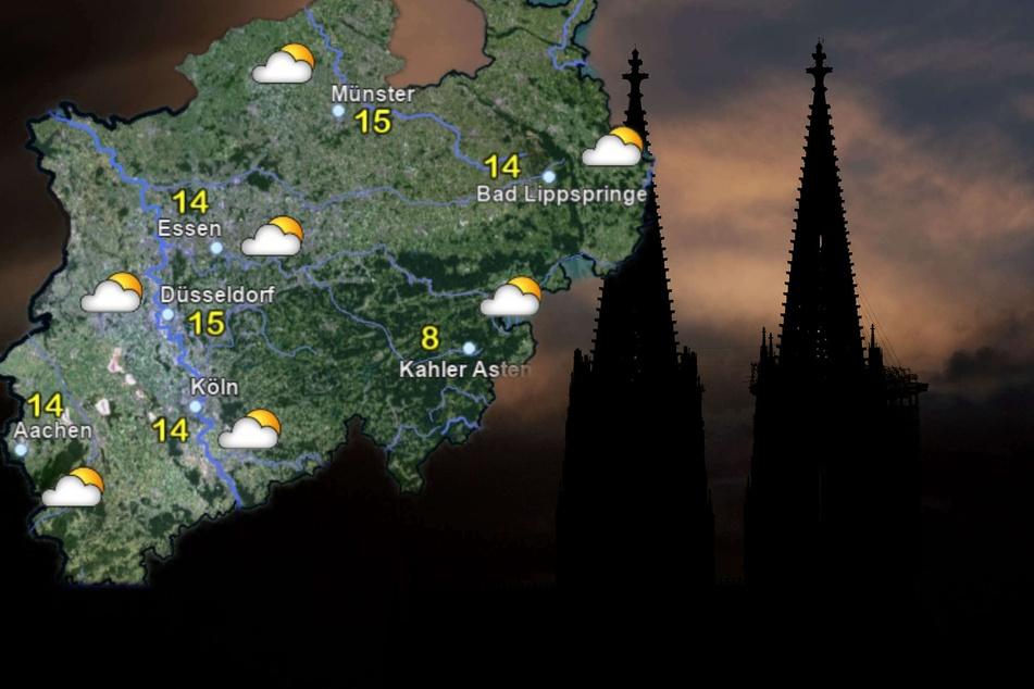 Sonne und Wolken: Wechselhaftes Wetter zum Wochenstart in NRW
