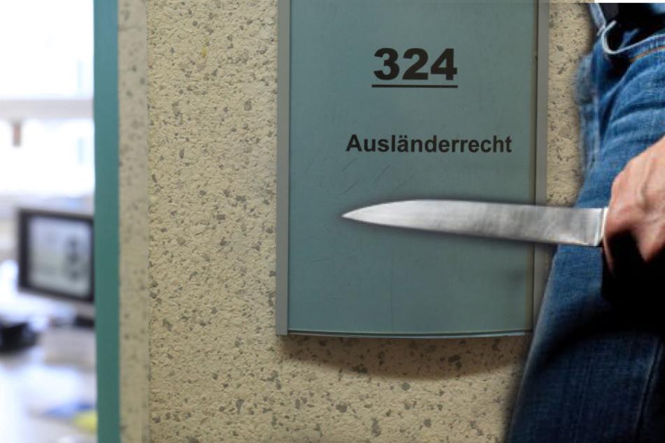 Der Mann bedrohte einen Mitarbeiter mit einem Messer. (Symbolbild)
