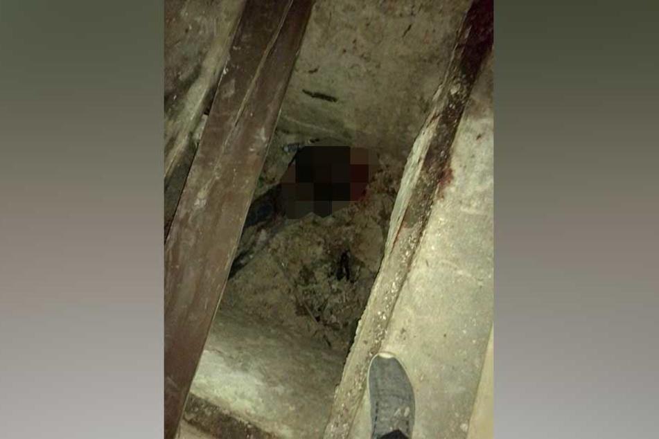 Ein Handy-Foto, das der mutmaßliche Killer geschossen hat - und das fassungslos macht: Christopher W. liegt tot in der Grube.