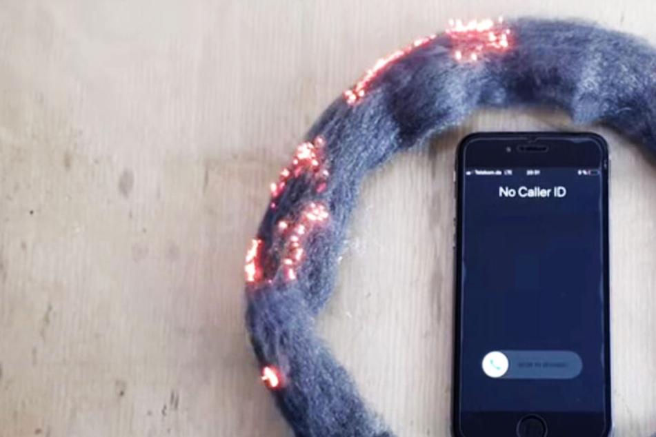Krass: Handy soll Stahlwolle mit nur einem Anruf entzünden!