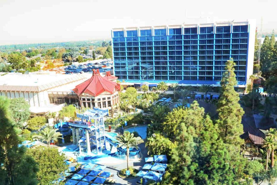 In diesem Hotel wurde Mark Gautier angestellt.