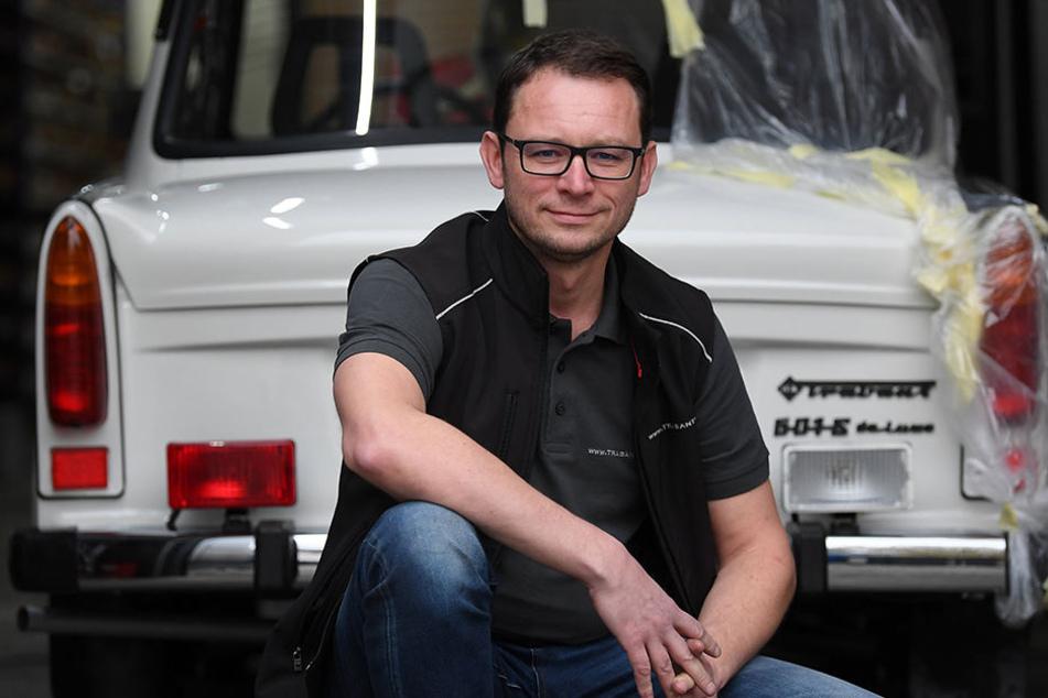Frank Hofmann (46) hat ein ganz besonderes Trabi-Model aufgetrieben.