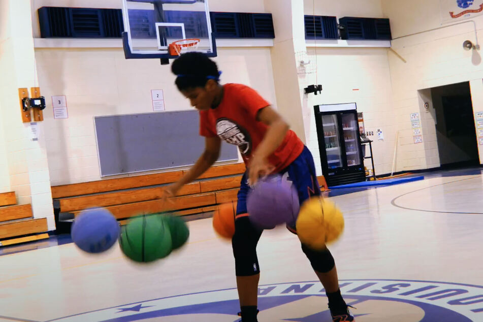 Zaila holds three Guinness World Records for dribbling multiple basketballs at once.