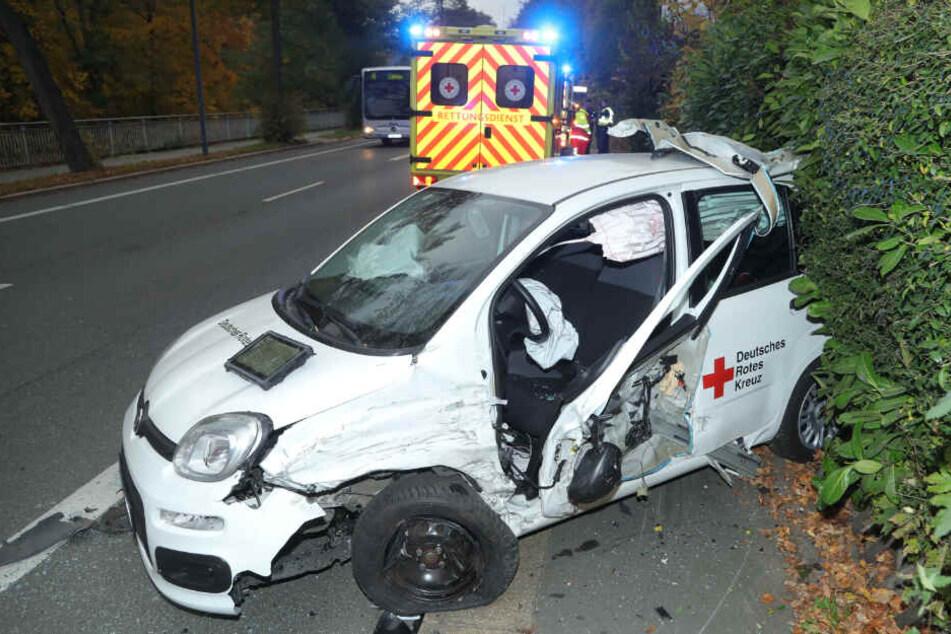 Der Fiat Panda soll einen Totalschaden haben.