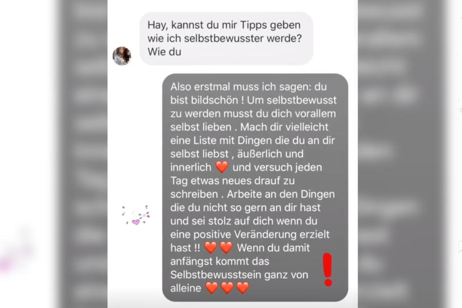 Der Screenshot zeigt eine Instagram-Story von GNTM-Kandidatin Lijana.