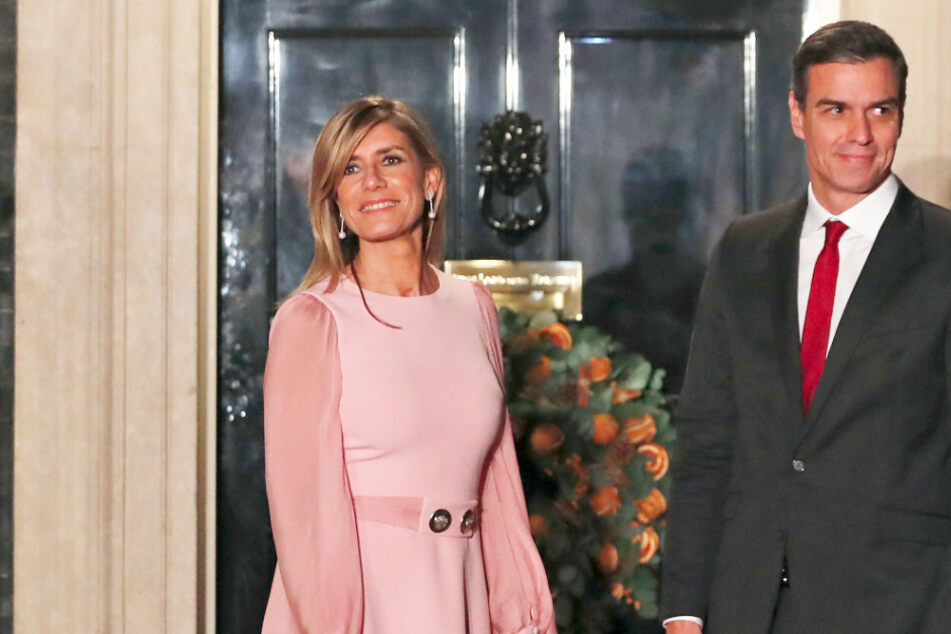 Pedro Sanchez, Ministerpräsident von Spanien, und seine Ehefrau Maria Begona Gomez bei einem Staatsbesuch in London.