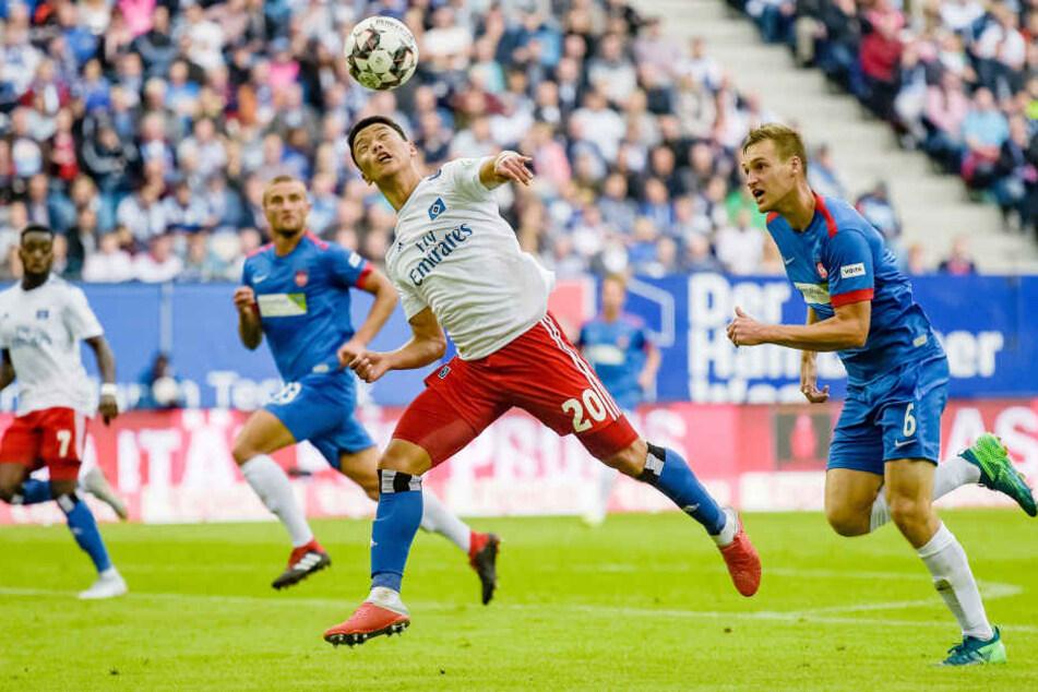 HSV-Neuzugang Hee-chan Hwang lieferte gegen Heidenheim ein starkes Debüt ab.