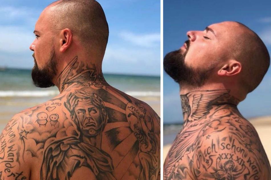 Ist hier überhaupt noch Platz für das Tattoo seiner Liebsten?