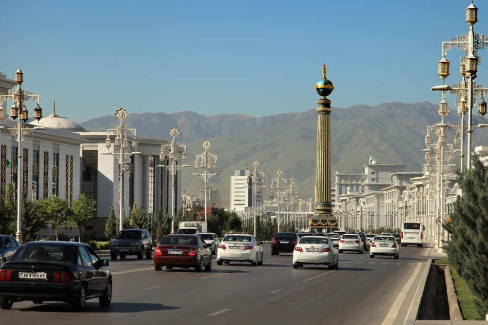 Ashagabe, die Hauptstadt von Turkmenistan.