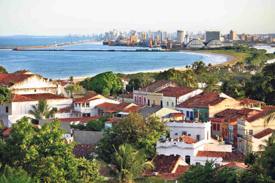Die Stadt Recife liegt am Atlantik nicht allzu weit vom Äquator entfernt.