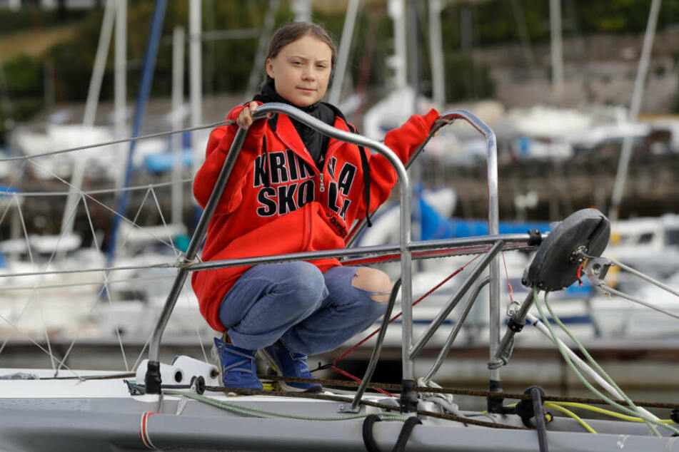Greta Thunberg will mit dem Boot über den Atlantik reisen.