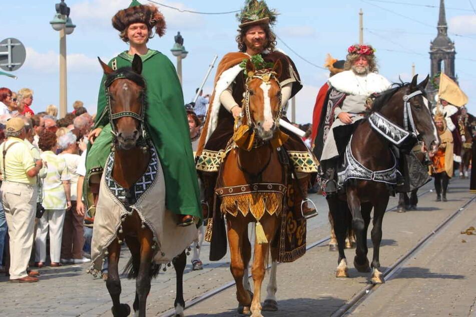 Der Fürstenzug 2008 beim Dresdner Stadtfest.