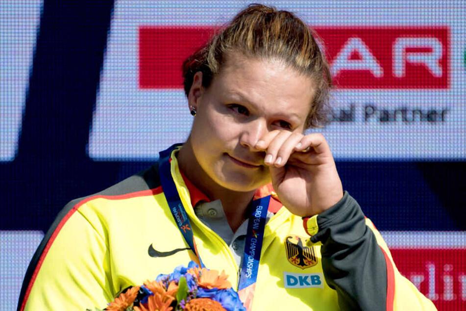 Kugelstoßerin Christina Schwanitz hatte sich unter anderem über die fehlende Anwesenheit der Kanzlerin bei der Leichtathletik-EM in Berlin beklagt.