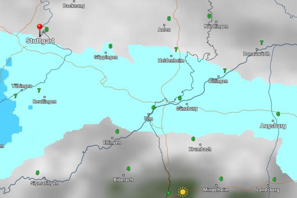 Am Montag und Dienstag ist mit vielen Schauern in Baden-Württemberg zu rechnen, es bleibt aber vergleichsweise mild.