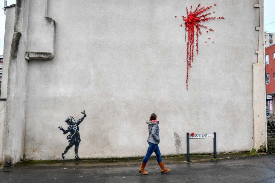Banksys neustes Werk in Bristol.