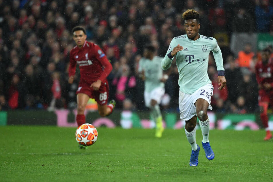 Kingsley Coman von München im Hinspiel gegen Liverpool im Februar 2019; auch bei Rückspiel will er dabei sein.