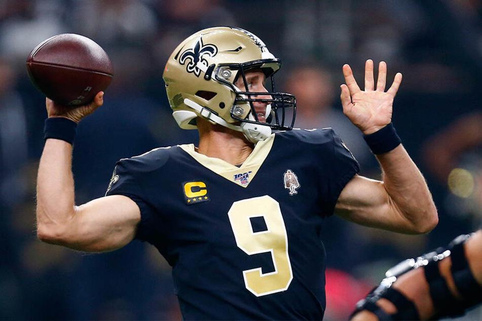 Saints Quarterback Drew Brees scheint sich wohl auch über die gedrückten Daumen aus dem Vatikan gefreut zu haben.