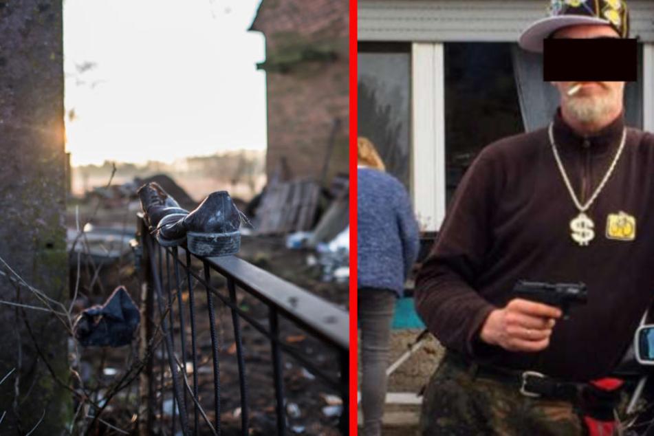 Jörg Volker W. (51/li.) erzählte seinen Nachbarn, dass genau wissen würde, wie man einen Mensch tötet.